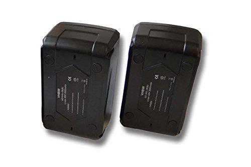 vhbw set 2x batería Li-Ion 3000mAh (28V) para herramientas