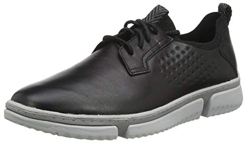 Hush Puppies mens Bennet Plain Toe Oxford Sneaker, Black Leather, 13 Wide US