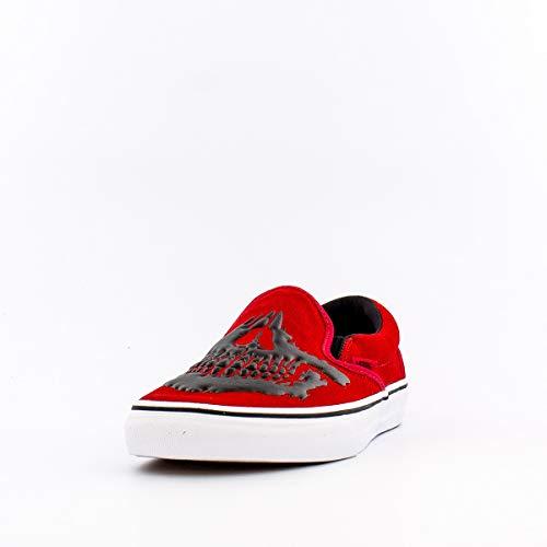 Vans Classic Slip-on (Jawbone) Racing Red/True White Womens 10.5 / Mens 9