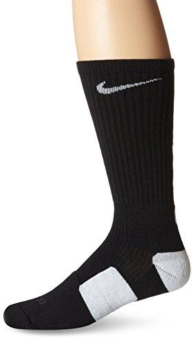 Nike Mens Elite Cushioned Crew Socks Large (shoe size 8-12) (Black)
