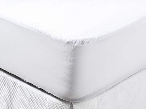 Tex Home - Protector De Colchón Rizo Impermeable Transpirable Y Antiácaros Cama 135 Cm Blanco