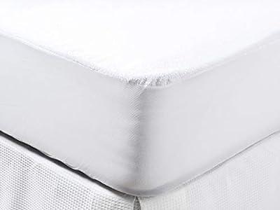 Carrefour Tex Home - Protector De Colchón Rizo Impermeable Transpirable Y Antiácaros Cama 90 Cm Blanco