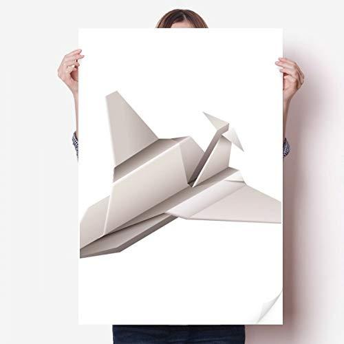 DIYthinker Origami Modelo geométrico Abstracto de los Aviones de Vinilo Etiqueta de la Pared del Cartel Mural del Papel Pintado de la Etiqueta de Habitaciones 80X55Cm 80cm x 55cm