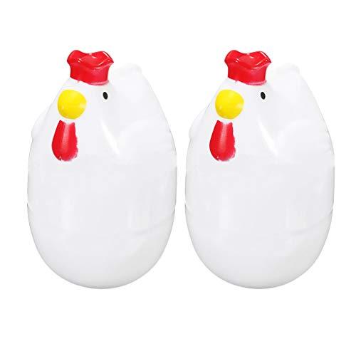 B Blesiya 2 Stück Küche Ei Dampfgarer Mikrowelle Eierkocher Kochutensilien