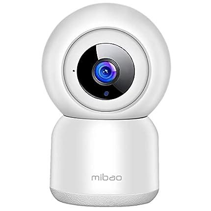 Cámara de Vigilancia WiFi, Mibao 1080P Cámara IP Inalámbrica, HD Visión Nocturna, Detección de Movimiento Remoto, Alerta de aplicación, Audio Bidireccional, Monitor para Bebé/Mascota/Tienda