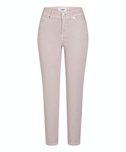 Cambio Damen Jeans Piper Short Größe 4027 Rot (rosa)