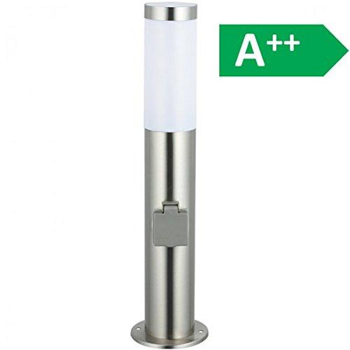 Wegeleuchte Edelstahl 45 cm (H) inkl. 2 Steckdosen Standleuchte Leuchte Gartenlampe NEU