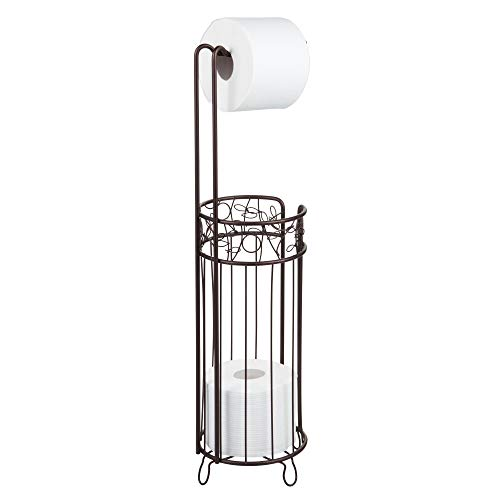 iDesign Twigz Bath, Free Standing Toilet Paper Roll Holder for Bathroom Storage - Bronze