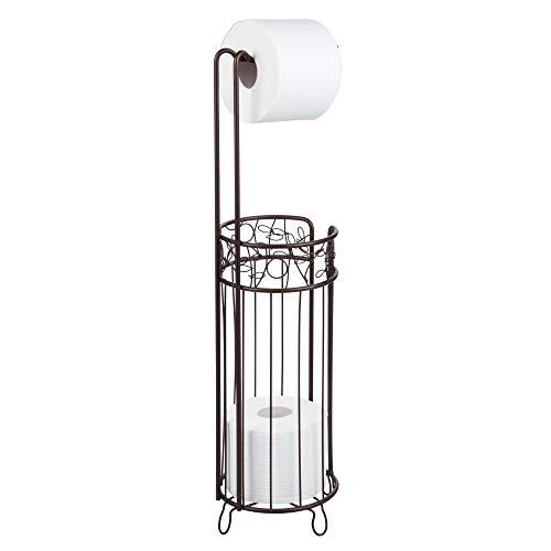 iDesign Twigz Steel Free-Standing Toilet Paper Storage Dispenser - 7' x 7' x 25', Bronze