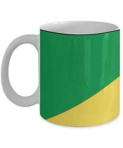 N\A Demokratische Republik Kongo Flagge 11oz weiße Kaffeetasse Teetasse Land Native Pride