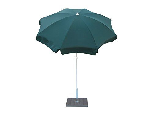 Maffei Art 112 Parasol Rond diamètre cm 200, Tissu Polyester, Made in Italy. Couleur Vert