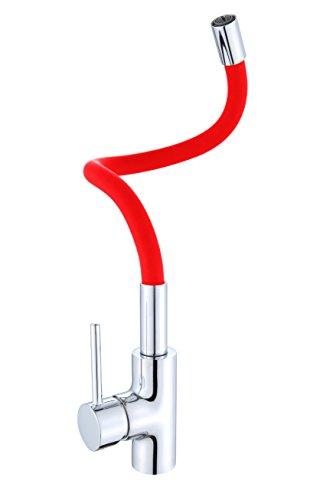 ''Flamingo rubinetto da cucina rubinetto da cucina Miscelatore monocomando rubinetto flessibile, miscelatore per lavello Rosso