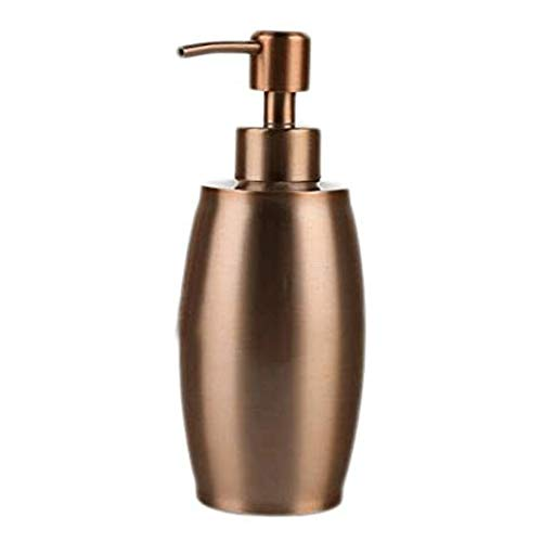 Dispensador de jabón Botella metal moderno dispensador de jabón líquido recargable jabón dispensador de la bomba de tocador de baño encimera del fregadero de cocina del dispensador líquido de oro rosa
