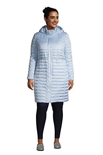 Lands' End Wms Insulated Fleece Lined Coat Soft Blue Haze Petite X-Large