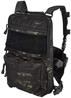 Lancer Tactical 1000D Nylon QD Chest Rig and Backpack Combo Black CAMO product image