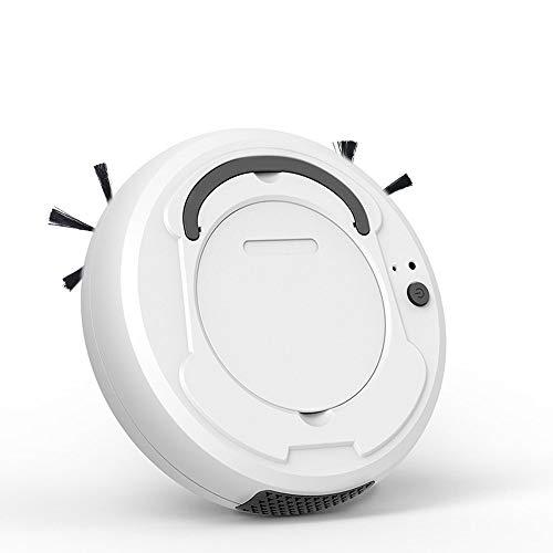 Robot Aspirador, Barredora Inteligente Automática Doméstica Robótica 3 en 1 con Succión Fuerte 1800 Pa, Fregado y Barrido, Súper Silenciosos, Sensores Inteligentes, Barredora de Pisos,White