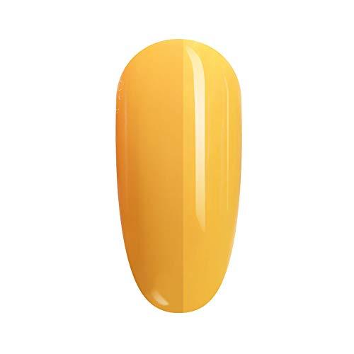 FANZEST Gel Nail Polish UV Gel No Chip Soak Off Nail Gel Polish Manicure Pedicure (Mango Yellow)