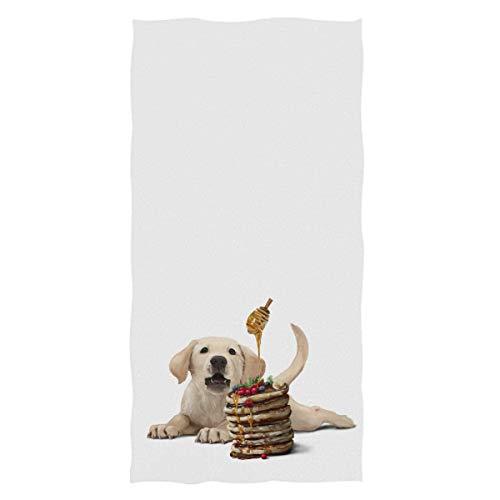 Jesse Tobias Perro Patrón Toallas de Mano Labrador Cachorro Panqueques Miel Baño Toalla de baño Toalla Multiusos