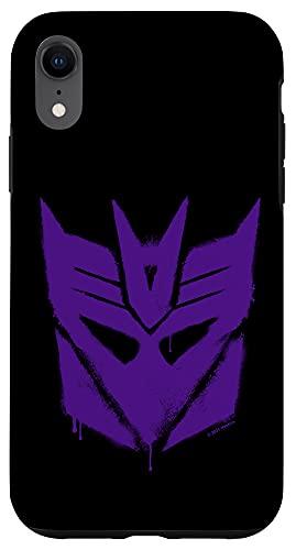 iPhone XR Transformers Purple Graffiti Decepticon Logo Case