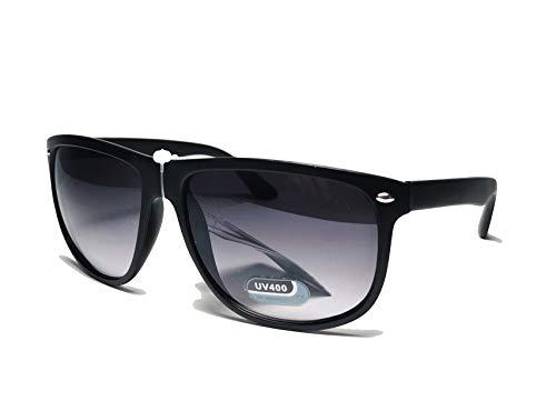 FIKO WAY BIG Club Gafas de sol polarizadas Aviator Hombre Mujer Unisex Vintage Negro