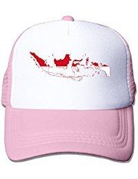 Flag Map Of Indonesia Nylon Adult Baseball Cap Trucker Cap