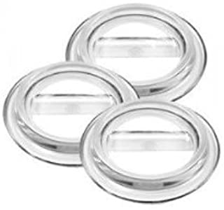 Lucite Piano Caster Cups, Clear, Set of 3 for Grand Pianos - Virtually Indestructible