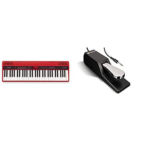 Roland Go-61K Teclado Electrico + M-Audio Sp-2 Pedal De Sostenido Universal Con Tacto De Piano Para Teclados Electrónicos, Pianos Digitales, Controladores Midi, Sintetizadores Y Más