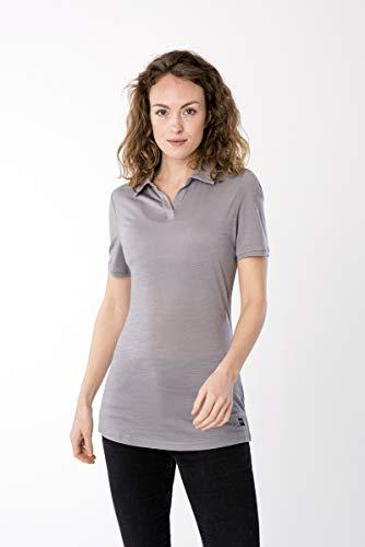 super.natural W Tencel Polo pour Femme L Gris argenté