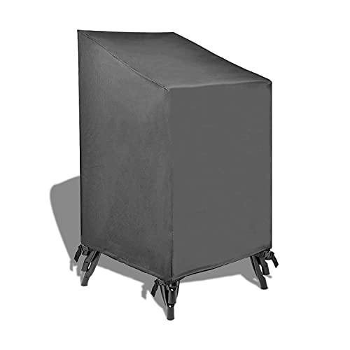 Patio Watcher Stackable Patio Chair Covers, Durable and Waterproof Outdoor Furniture Chair Cover, Grey