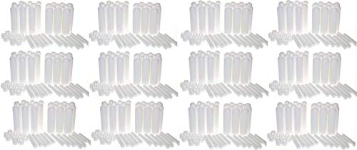 mEssentials Essential Oil Inhaler Sticks (150 Pack) - Blank Nasal Wicks for Aromatherapy On The Go - Compact, Lightweight, Easy to Use - Tight Seal Close - Made in USA, Medical Grade Plastic