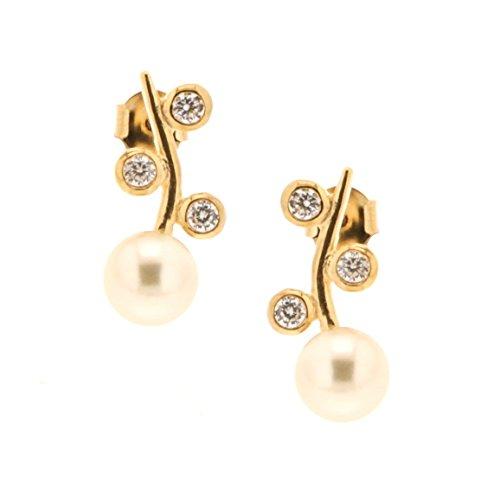 Bijoux pour tous Women Brass Ronde Zirconium oxide