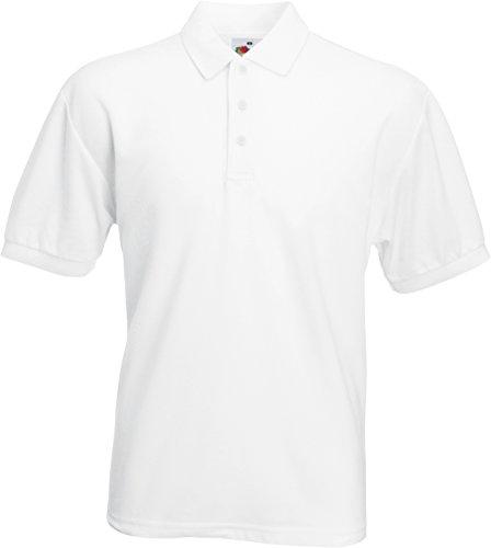 Polo-Shirt * 65/35 Polo * Fruit of the Loom Farbe weiß Größe L