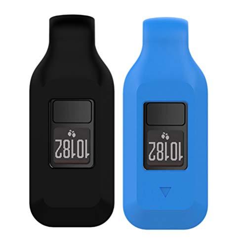 Hemobllo - Juego de 2 correas de repuesto para Garmin Vivofit 3 para niños, color negro y azul