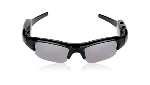 HD Kamera Sonnenbrille K42, getarnte Überwachungskamera, Langzeitüberwachung, versteckte Videoüberwachung, SpyCam mit 3 MPix, von Kobert-Goods