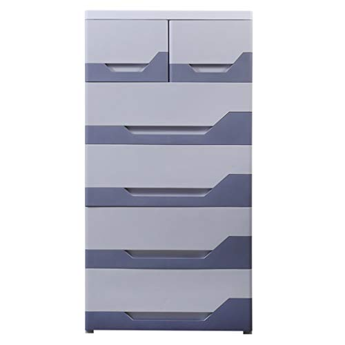 Zzg-2 Colourful Storage Box, Bedroom Plastic Drawer Type Bedside Table Assembly Five Floors Daily Necessities Finishing Cabinet, 5840114CM (Color : E)