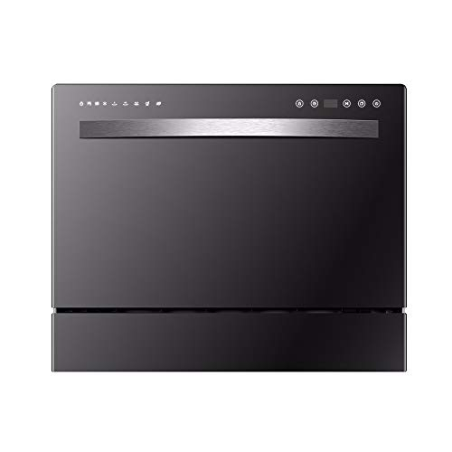 LAMCE Lave Vaisselle encastrable WQP6-8211 - Lave Vaisselle Tout integrable 60 cm - Classe A++ / 5 Couverts - 9 Fonctions - Lave Vaisselle INOX - Lave Vaisselle Black