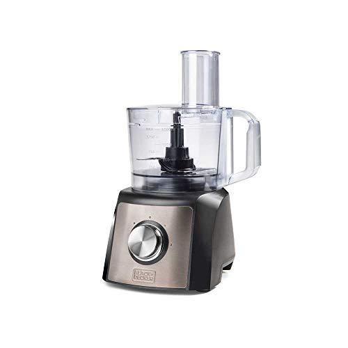 Black+Decker BXFPA1200E Procesador de alimentos, 1200 W, Acero Inoxidable, Inox + Gris