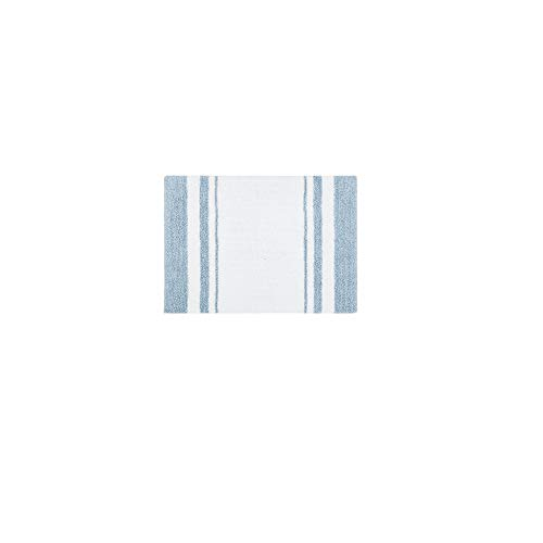 Madison Park Reversible Spa Rug 100%-Cotton Striped Ultra Soft Water Fast Bath Non-Slip Absorbent...