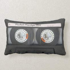 Velvet Soft Decorative Rectangle Throw Pillow Cover Lumbar Pillow Case, Personalized Retro Cassette Mix-Tape, Home Decor Decorations for Sofa Couch Bed Chair 12x20 Inch/30x50 cm