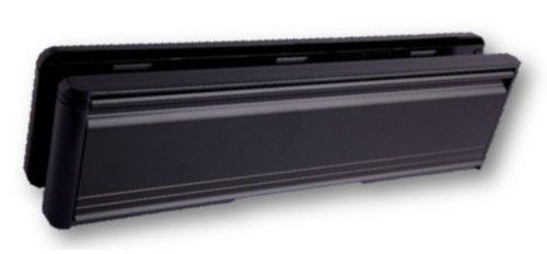 HomeSecure Briefschlitz für Türeinwurf, 25,4 cm, Hart-PVC, Mittelschiene (40 bis 80 mm)