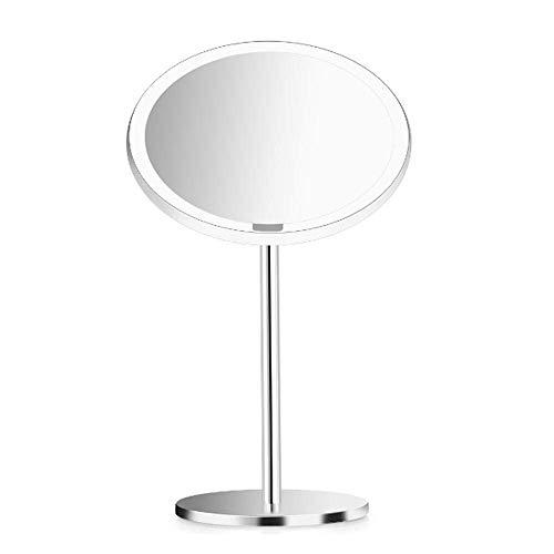 El espejo cosmético espejo compacto de billar Mesa de iluminación LED portátil de maquillaje Espejo con luz regulable del sensor de movimiento cosmética fuentes del regalo espejos de baño led JIAMEIME