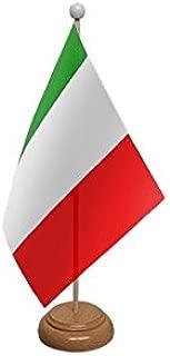 Bandera de Italia de escritorio, sobremesa, con base de madera y poste ideal para fiestas, conferencias, oficina, 22,9 x 15,2 cm: Amazon.es: Hogar
