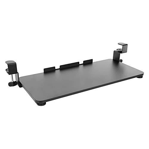 HYE-Table Bandeja para Teclado Debajo del Escritorio Soporte para Teclado: Mayor Comodidad y Espacio utilizable en el Escritorio: Sistema de Montaje de Abrazadera en C Extra Resistente