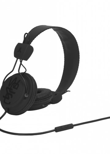 WeSC WESC7001999 Matte Conga - Auriculares supraurales (incluye adaptador para teléfonos Sony Ericsson y Nokia), color negro