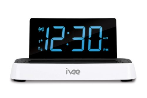 ivee Flex: Voice-Activated Clock Radio (FM), White