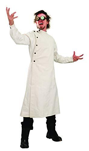 Windlass Heavy White Denim Mad Scientist Victorian Lab Coat Full Length Cut Overcoat Long Sleeves Howie Lab Coat (Large/X-Large)
