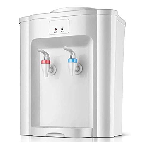 Encimera de dispensador de Agua pequeña Blanca, Mini dispensadores de Agua fría y Caliente de Carga Superior Silenciosos, Dispensador de Agua fría para el hogar Energía