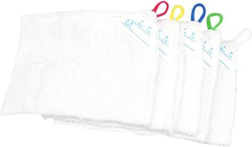 5枚セット ループ付き雑巾 記名タグ付き 綿100%