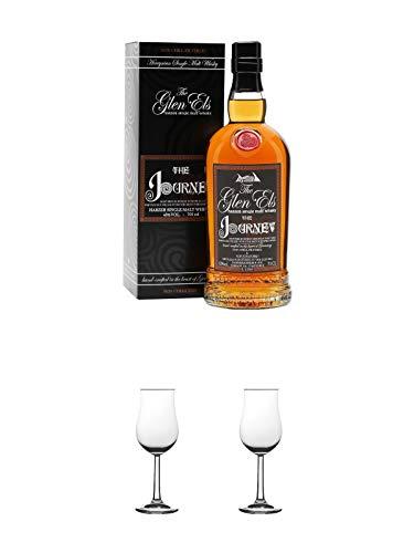 The Glen Els Journey Harzer Single Malt Whisky 0,7 Liter + Nosing Gläser Kelchglas Bugatti mit Eichstrich 2cl und 4cl 1 Stück + Nosing Gläser Kelchglas Bugatti mit Eichstrich 2cl und 4cl 1 Stück