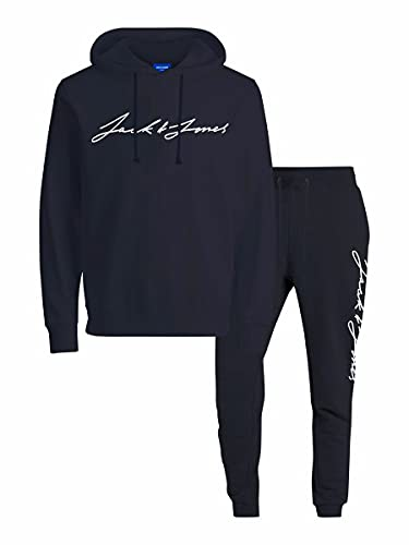 JACK & JONES Herren JORFERDIE Sweat Tracksuit Set MP Trainingsanzug, Navy Blazer/Detail:REG Pack W NB Pants Comfort, M